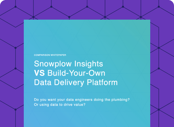 Snowplow vs build-your-own data pipeline