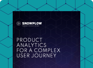 Product analytics for a complex user journey