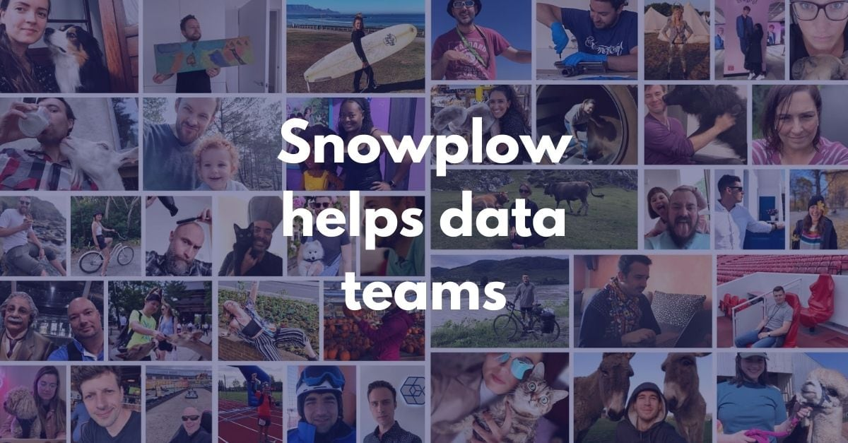 The Snowplow remote team, collage of avatars